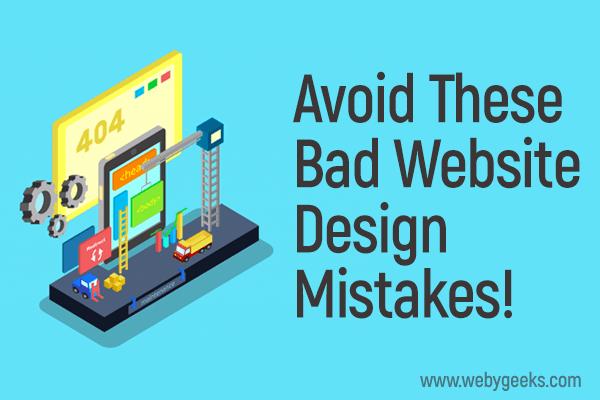 poorly designed websites